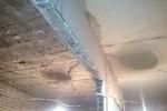 Демонтаж перегородок под несущей жб балкой