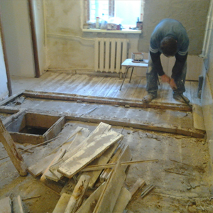 Демонтаж деревянного пола (Москва и московская область)