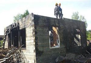 демонтаж сгоревшего дома (Москва и московская область)