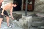 Демонтаж крыльца загородного дома