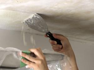 Демонтаж краски с потолка (водоэмульсионной, алкидной) (Москва и московская область)