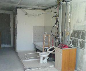 Демонтаж сантехнической кабины (Москва и московская область)