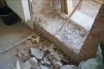 Демонтаж порога балкона