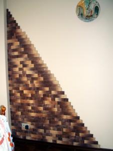 Облицовка фрагмента стены декоративным кирпичем