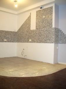 Плиточные работы - фартук кухни (мозаика)
