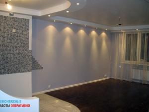 Установка светильников в декоративную потолочную конструкцию