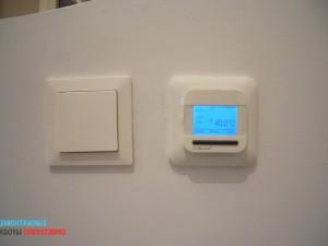 Установка выключателей и терморегуляторов теплого пола