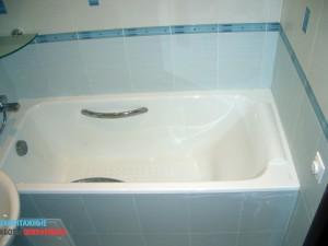 Установка ванной (чугун)
