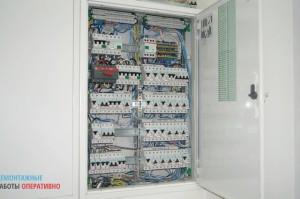 Электромонтаж в коттедже - установка и сборка силового 3-х фазного распределительного шкафа