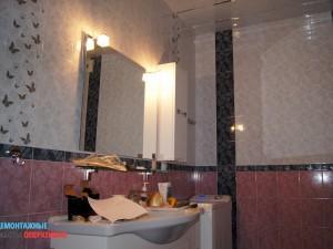 Установка и подключение зеркала с подсветкой.
