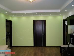 Монтаж декоративных потолочных конструкций, выравнивание стен под обои, подготовка пола для укладки паркетной доски