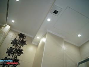 Монтаж подвесного влагостойкого потолка в санузле