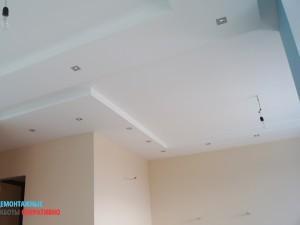Монтаж декоративных гипсокартонных потолков