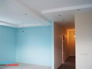 Демонтаж межкомнатных стен, возведение новых перегородок, подготовка к покраске, покраска
