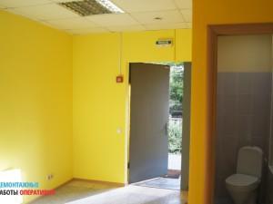 Покраска стен в офисном помещении