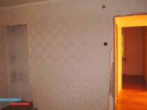 Демонтаж обоев в квартире, очистка стен
