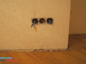 Демонтаж розеток и выключателей в квартире