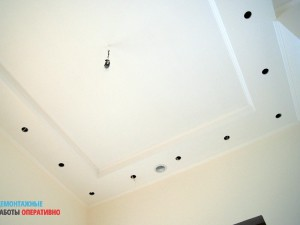 Монтаж и покраска двухуровневого потолка