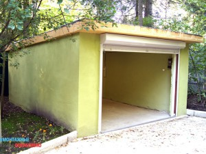 Покраска гаража, замена ворот, ремонт кровли