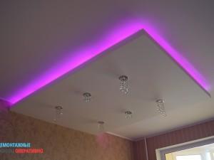 Монтаж подсветки потолочной
