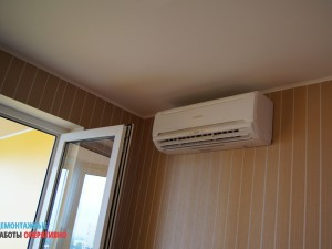 Монтаж кондиционера - внутренний блок (спальня)