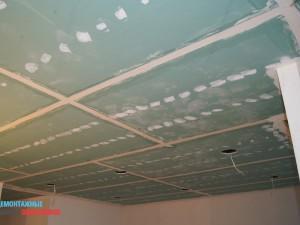 Монтаж подвесных потолков из листов гклв