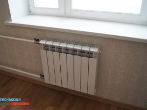 Установка нового радиатора Rifar
