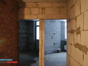 Демонтаж гипсовых межкомнатных стен