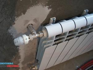 Установка углового терморегулятора