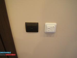 Установка выключателей и терморегуляторов
