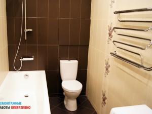 Установка сантех оборудования (ванна, унитаз, сушилка)