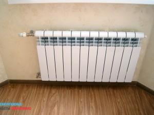 Установка радиатора после поклейки обоев
