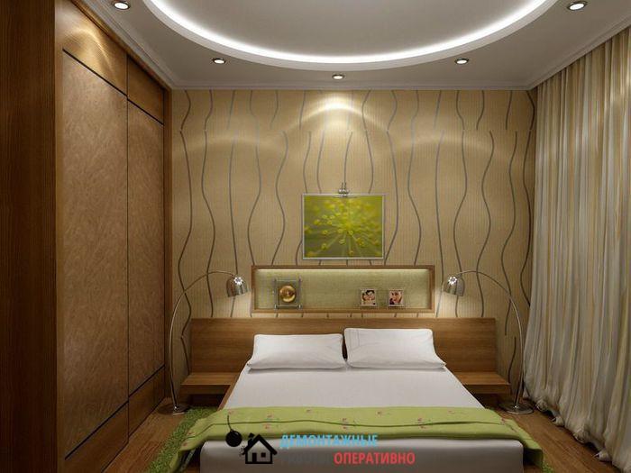 Ремонт потолков спальня дизайн