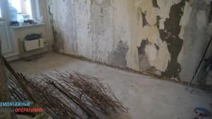 Демонтаж пола в квартире